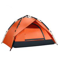 Fiberglass Pole Light Weight 3 Person Family Camping Tents