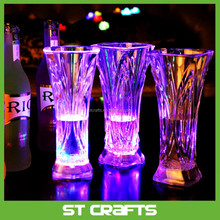 Liquid active LED glow glass , acrylic light up LED flashing shot glass,colorful led light flashing