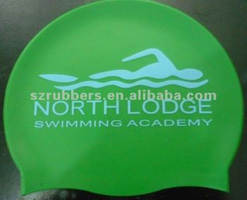 Adult's Standard Size of Flat Silicone Swim Cap
