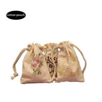 small nature cotton bag with embroidery logo