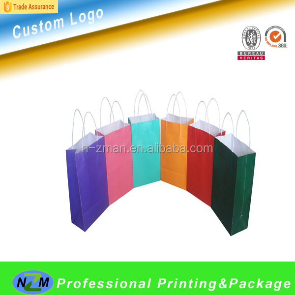 China Manufacturer Brown Paper Bag, Luxury Paper Wine Bag, Eco-friendly White Kraft Paper Bag