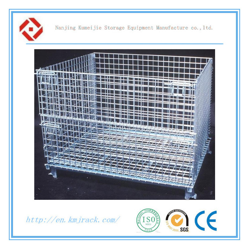Welded Steel Wire Mesh Storage Galvanized Collapsible Container