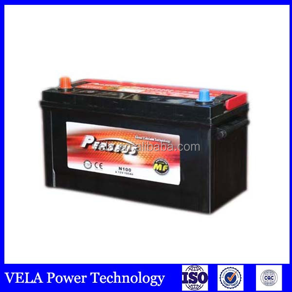 mf truck lead acid automotive battery <strong>N100</strong>