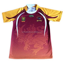 Custom printed sugby jerseys from china, pro fit rugby jersey, rugby team uniforms