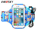 HAISSKY Factory Wholesaler Cartoon Full Printing lycra armband spandex armband armband cellphone