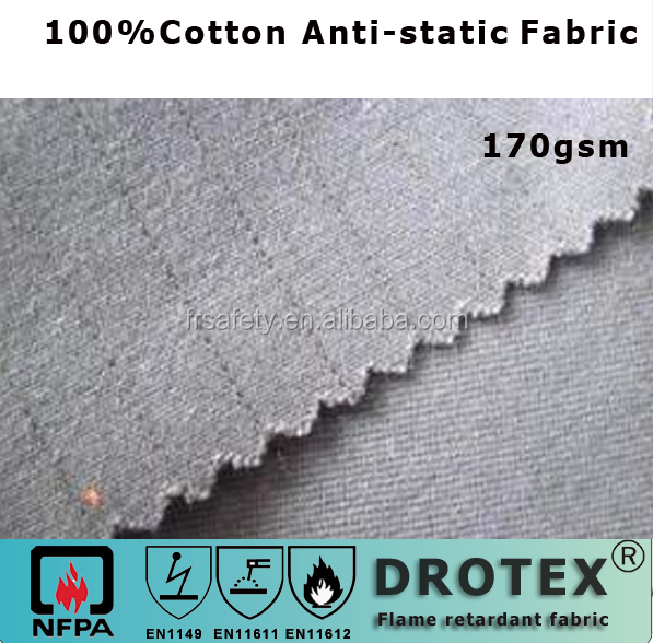 Anti Static Fabric : En cotton anti static fabric gsm gas station