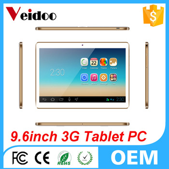 9.6 inch Android 5.1 Phablet, Phone Call Tablet PC with IPS Screen and Quad Core 1GB RAM 16GB ROM, Dual Cameras