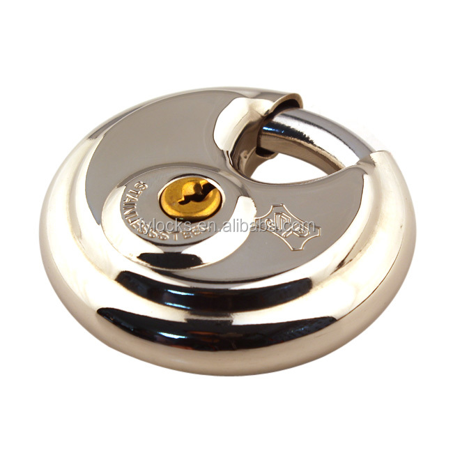 STAINLESS STEEL ROUND DISC LOCK, STAINLESS STEEL DISC PADLOCK IN STOCK