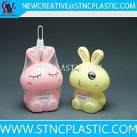 plastic rabbit money box coin bank piggy bank for kids
