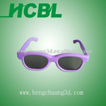 kids-size ABS purple frame 3d glasses