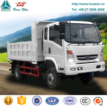 2tons-10tons 4x4 all drive dump truck sinotruk homan light truck with bull bar and middle tipping