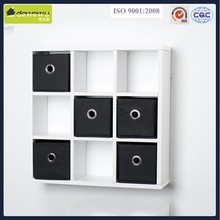 white wooden wall shelf design with drawer