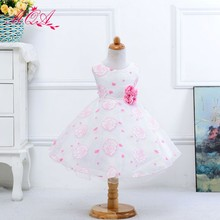 2017 New Sweet Girl Casual Polka Dot Floral Print Summer Children Baby Dress S001