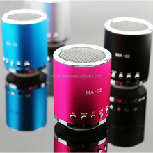 Cheap price round shaped mini portable rechargeable speaker with usb supporting