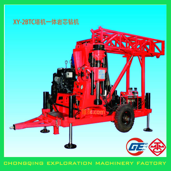Strongly Recommended Trailer Mounted Rotary Core Hand Water Well Drilling Equipment With Hydraulic Mast