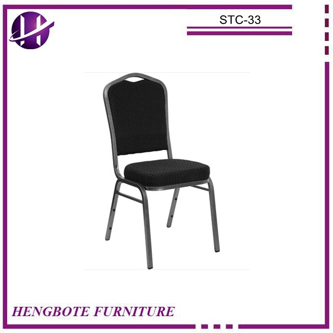 Modern design furniture factory sales durable metal frame stacking banquet chairs