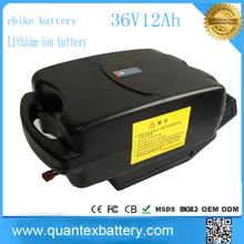 Factory price 36v frog e bike battery lithium li-ion 12ah battery pack for electric -bikes