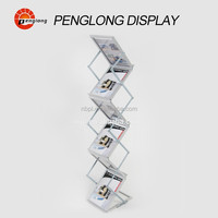 Free standing acrylic brochure holders magazine stand literature holder