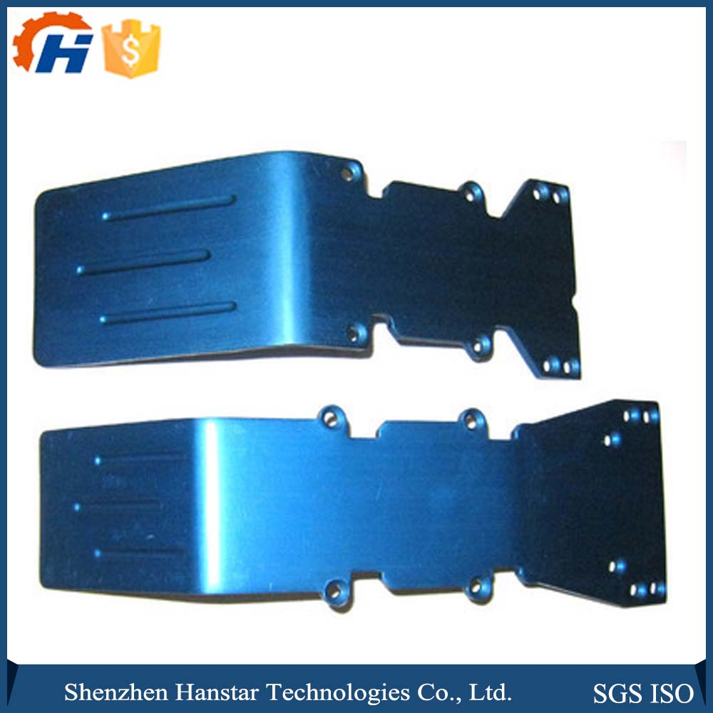 Alibaba china manufacture CNC machined Blue anodized Aluminium alloy components