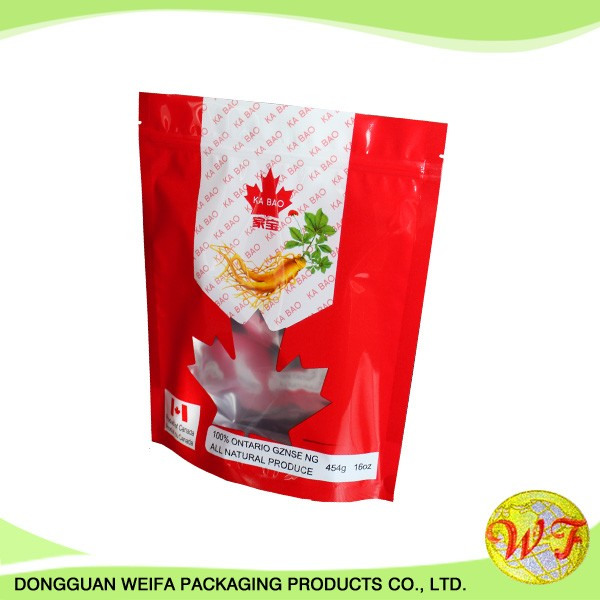 Compound Dried Food Packing Plastic Zipper Lock Freezer Storage Bag With Slider Closure