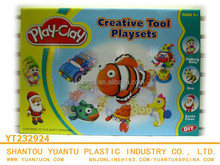 Children creative playset,play dough clay with tool and mold for sales!