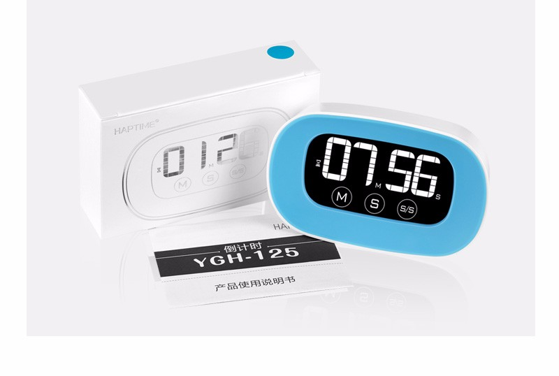 Latest new touch screen Alarm Magnetic Digital Kitchen Cooking timer with CE ROHS