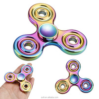 Alloy Metal Spinner Toys Multicolor Rainbow