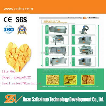 2015 High technology potato chips making equipment