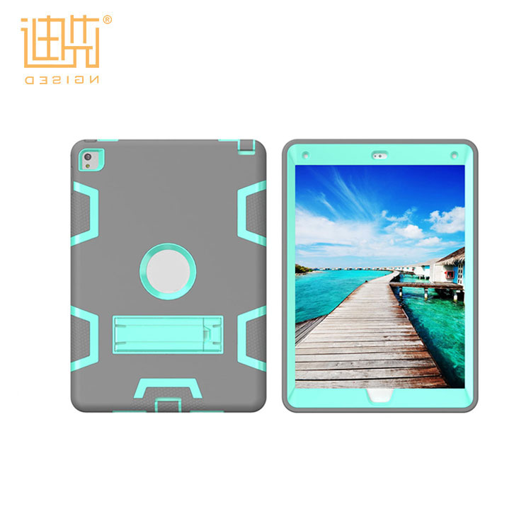 New Products style 3 in1 Design Plastic Back Cover + Plastic Bumper + silicone inner frame cover case for ipad pro 9.7