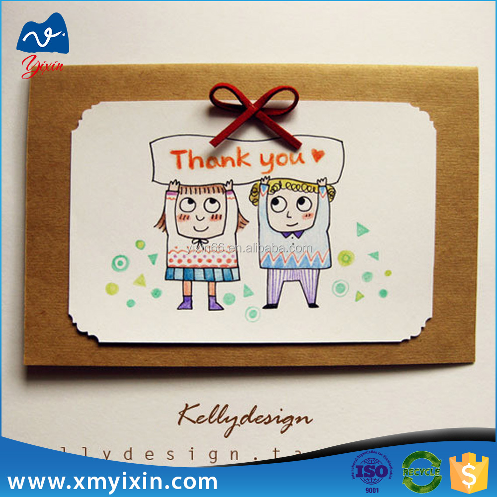 Factory price handmade decoration greeting card/cheap header card with printing