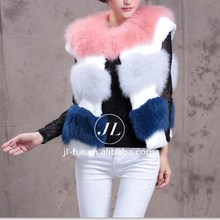 Rex Rabbit Fur Fox Fur Sex Animal Women Vest, Fox Fur Vest