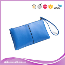 Ladies Long Style Wallet PU Leather Purse with Wristlet