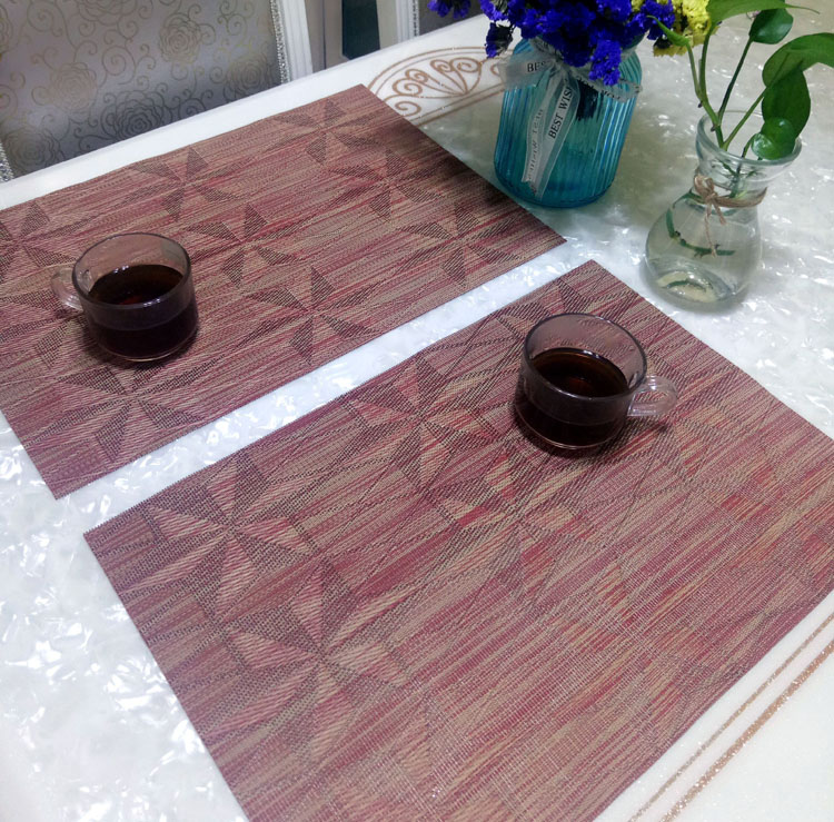 promotion pvc washable dining table mats