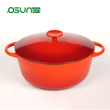 Chinese cast iron fry pan, wok and enamel paint for cookware