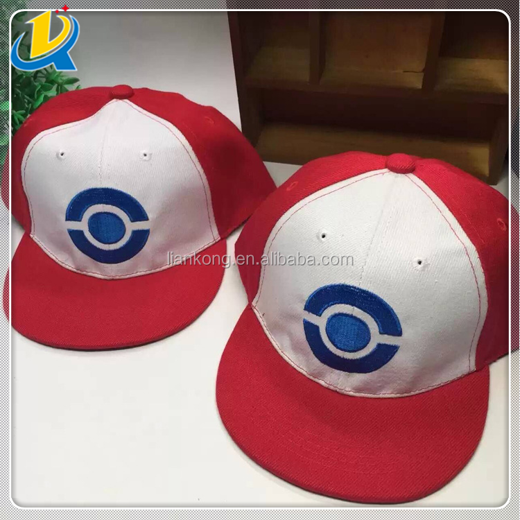 pokemon red and white snapbacks hats for kids and parents