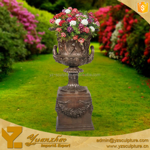 hot sale large size antique brass vases india for garden decoration