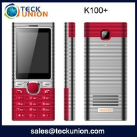 K100+ 2.4 inch dual band big speaker phone for mobile with big baterry telephone