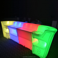 Plastic Mobile plastic home bar counter for sale led small bar counter designs led bar table furniture LTT-BC07B