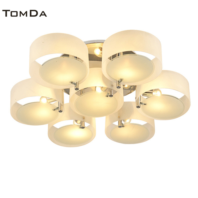 TomDa Acrylic Glass Ceiling Light Project Pendant Light Bending Acrylic Chandelier Dining-Room Sitting Room Study Villa <strong>Lamps</strong>