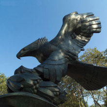 Eagle metal sculpture