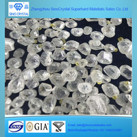 Sinocrystal large size white rough HPHT CVD diamond for sale