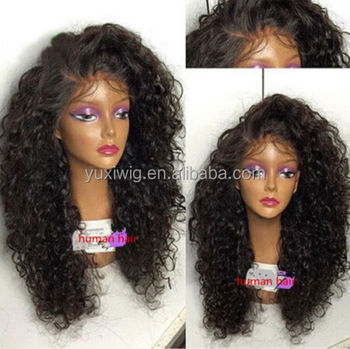 2016 Mongolian human virgin hair kinky curly Full lace wig;Front lace wig