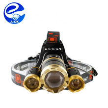 6000 Lumen CREE 3 L2 High Power Rechargeable LED Headlamp