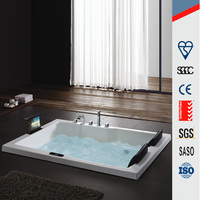2 person jet whirlpool bathtub with TV/ sex massage bath tub with TV M-6043