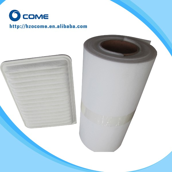 High efficiency non-woven particle pollen cabin air filter media in roll