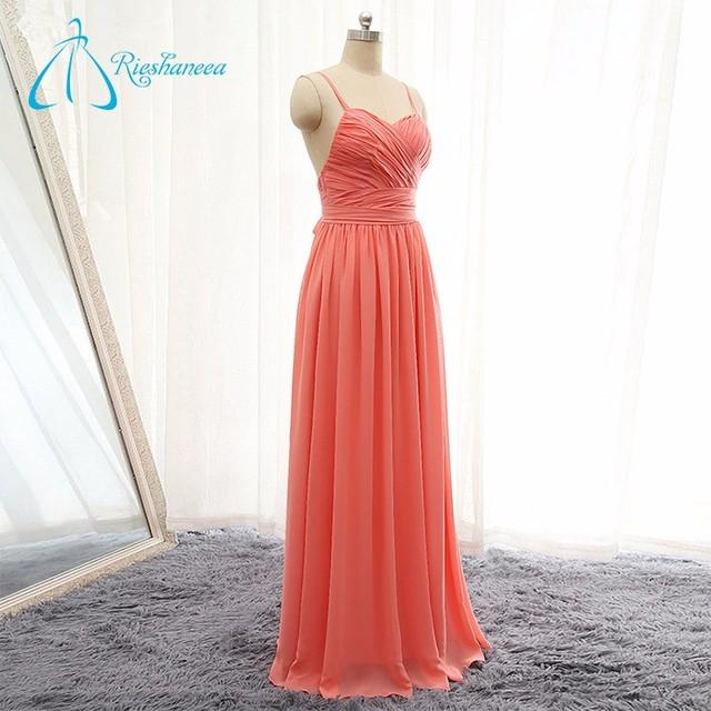Sheath Sashes Backless Sexy Cheap Peach Color Bridesmaid Dress
