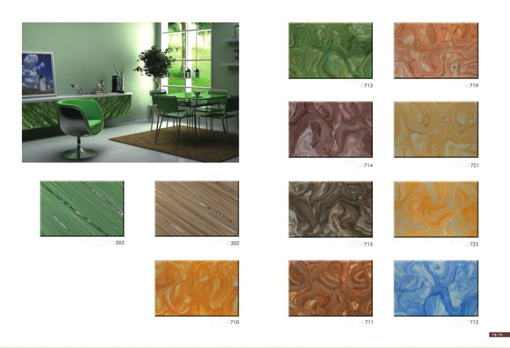 Alabaster Popular Acrylic Wall Decorative Stone/ Transparent Stone