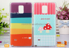 Printable colorful carton plastic mobile phone case for sumsung note4,plastic injection mould