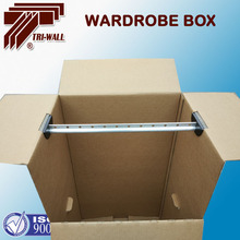 Durable Heavy duty 5ply corrugated paper wardrobe moving boxes