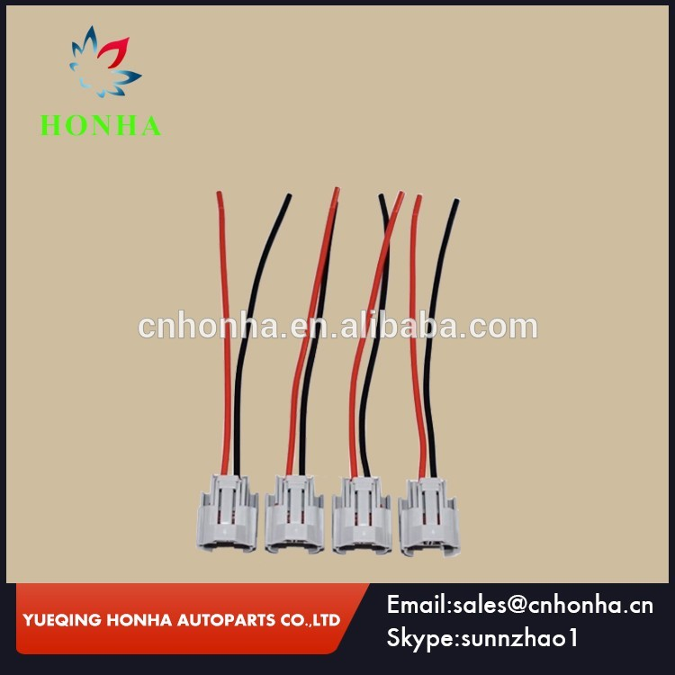 2 Pin Nippon Denso Fuel Injector Connector Wire Pigtail 173090-2 For Toyota